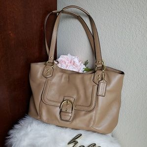 Coach Camel Leather Handbag